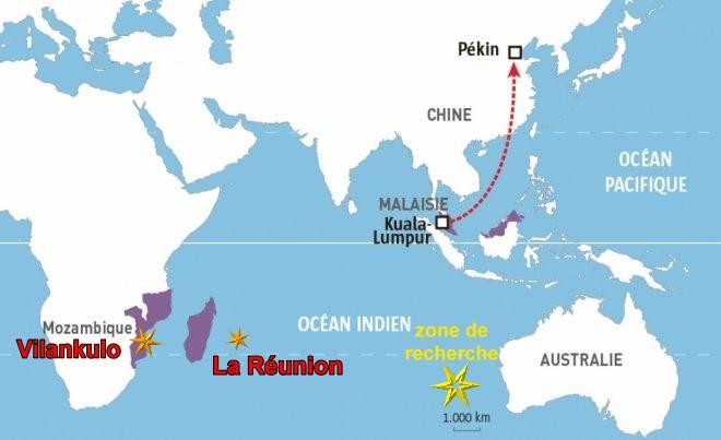 Carte Australie Malaisie.Crash Malaysia
